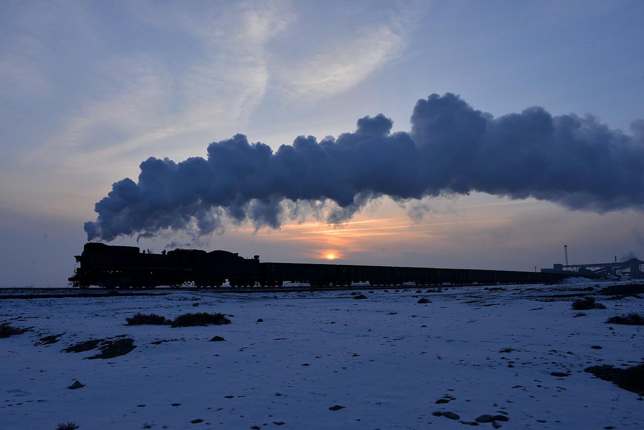 Sandaoling JS China Dampflokomotive Tanago Eisenbahnreisen