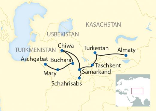 Registan Sonderzug Orient Silk Road Express