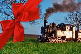 Weihnachten Geschenkgutschein Tanago Eisenbahnreisen